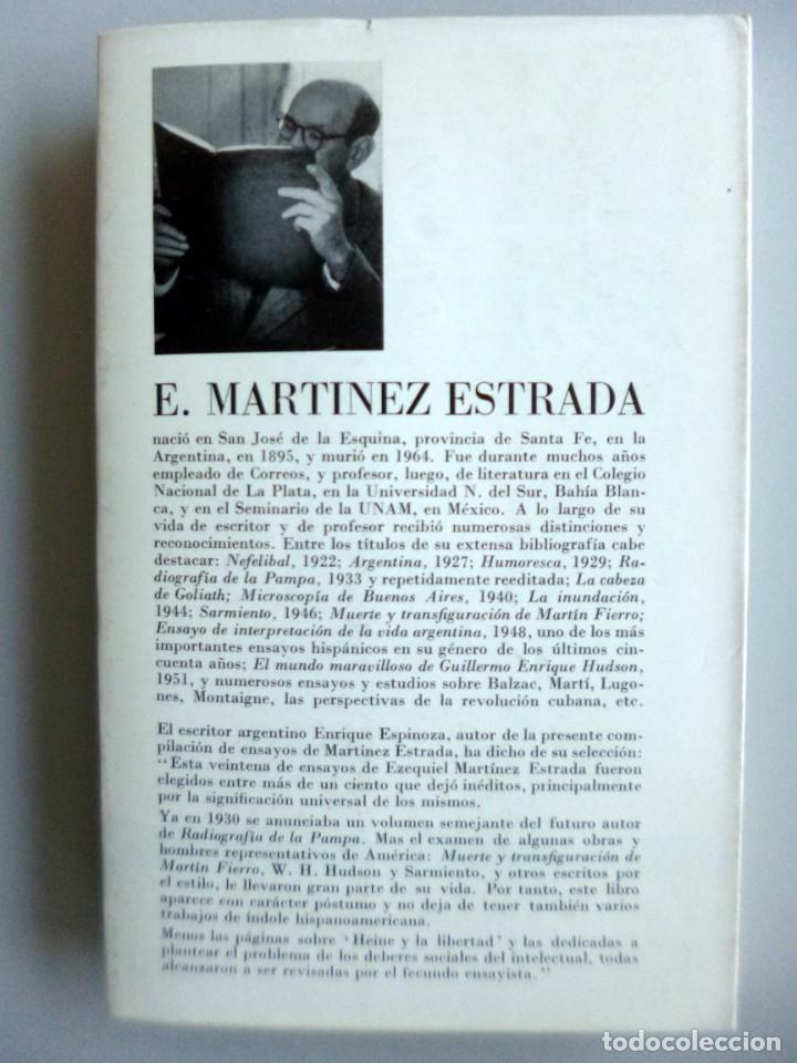 Libros de segunda mano: EZEQUIEL MARTÍNEZ ESTRADA // EN TORNO A KAFKA Y OTROS ENSAYOS // 1967 // SEIX-BARRAL - Foto 2 - 194883896