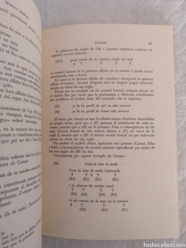 Libros de segunda mano: Mètrica catalana. Salvador Oliva. Edicions dels Quaderns crema, 1980. Libro - Foto 4 - 194886811