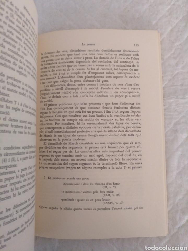 Libros de segunda mano: Mètrica catalana. Salvador Oliva. Edicions dels Quaderns crema, 1980. Libro - Foto 5 - 194886811