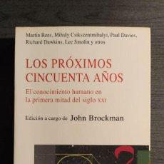 Libros de segunda mano: LOS PRÓXIMOS CINCUENTA AÑOS V.V. A.A. KAIROS EL CONOCIMIENTO HUMANO EN LA PRIMERA MITAD DEL SIGLO. Lote 194971327