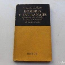 Libros de segunda mano: ERNESTO SABATO. HOMBRES Y ENGRANAJES. PRIMERA EDICION. BUENOS AIRES, 1951. Lote 194978035