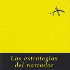 Libros de segunda mano: LAS ESTRATEGIAS DEL NARRADOR. - KOHAN, SILVIA ADELA.. Lote 194994377