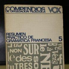 Libros de segunda mano: RESUMEN PRÁCTICO DE GRAMÁTICA FRANCESA.. Lote 195083140