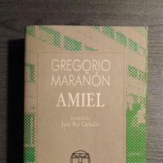 Libros de segunda mano: AMIEL GREGORIO MARAÑON COLECCION AUSTRAL 1987 . ESPASA CALPE. . Lote 195152017