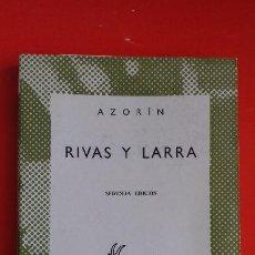 Libros de segunda mano: RIVAS Y LARRA. AZORÍN. COLECCIÓN AUSTRAL Nº674 2ªED.1957 ESPASA CALPE. Lote 195447831