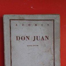 Libros de segunda mano: DON JUAN. AZORÍN. COLECCIÓN AUSTRAL Nº153 4ªED.1947 ESPASA CALPE. Lote 195513471
