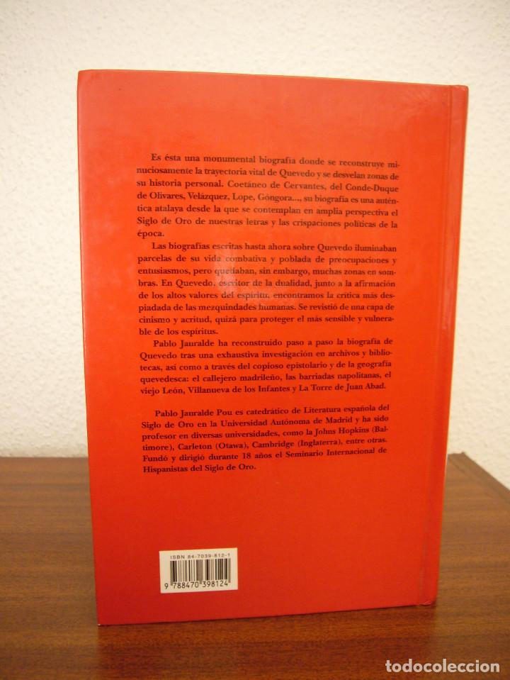 Libros de segunda mano: PABLO JAURALDE POU: FRANCISCO DE QUEVEDO 1580-1645 (CASTALIA, 1999) TAPA DURA. RARO. - Foto 3 - 197905866