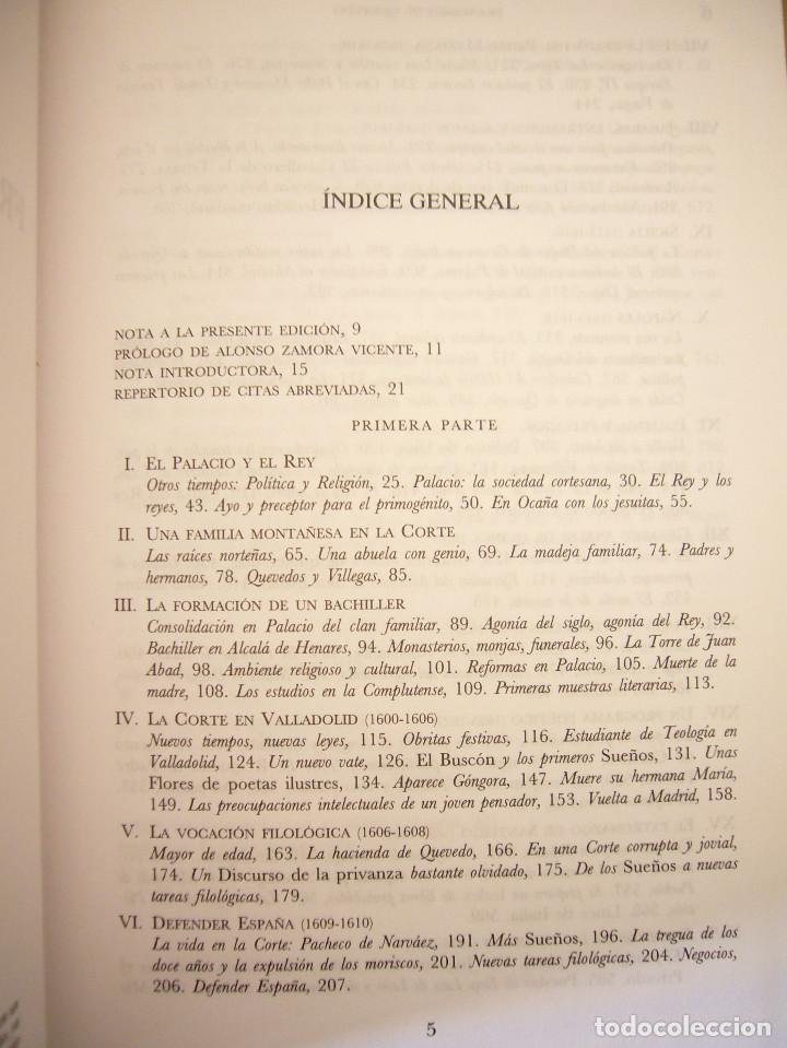 Libros de segunda mano: PABLO JAURALDE POU: FRANCISCO DE QUEVEDO 1580-1645 (CASTALIA, 1999) TAPA DURA. RARO. - Foto 5 - 197905866
