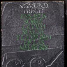 Libros de segunda mano: SIGMUND FREUD. ENSAYOS SOBRE LA VIDA SEXUAL Y LA TEORIA DE LAS NEUROSIS. ALIANZA. Lote 198386452