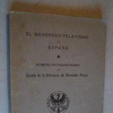 Libros de segunda mano: EL MENÉNDEZ - PELAYISMO EN ESPAÑA. NÚMERO EXTRAORDINARIO. 1939. Lote 198839350