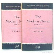 Libros de segunda mano: 1965 - PAUL WEST: THE MODERN NOVEL - LA NOVELA MODERNA - ENSAYO - LITERATURA - LIBROS EN INGLÉS. Lote 199207862