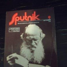 Libros de segunda mano: LEÓN TOLSTOI: SESQUICENTENARIO DE SU NACIMIENTO. SPUTNIK 9. SELECCIONES DE LA PRENSA SOVIETICA. 1978. Lote 199494816