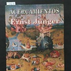 Libros de segunda mano: DROGAS Y EBRIEDAD, ACERCAMIENTOS, ERNST JUNGER. Lote 201509840