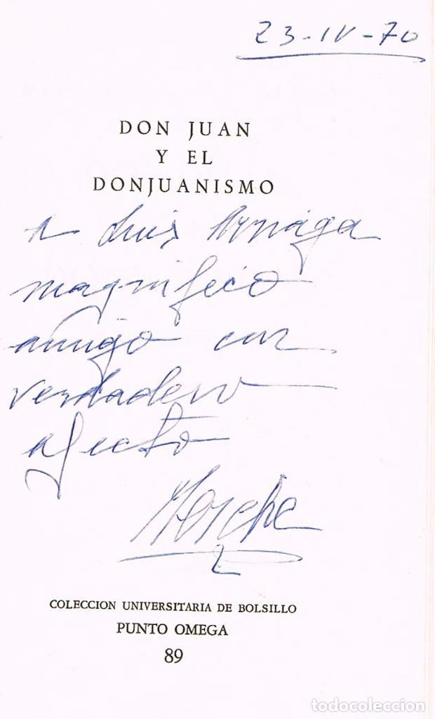 Libros de segunda mano: MERCEDES SAENZ-ALONSO - DON JUAN Y EL DON JUANISMOCON DEDICATORIA DE LA AUTORA , VER INDICE - Foto 2 - 201838738