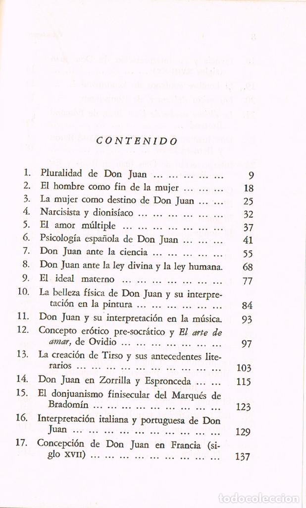 Libros de segunda mano: MERCEDES SAENZ-ALONSO - DON JUAN Y EL DON JUANISMOCON DEDICATORIA DE LA AUTORA , VER INDICE - Foto 3 - 201838738