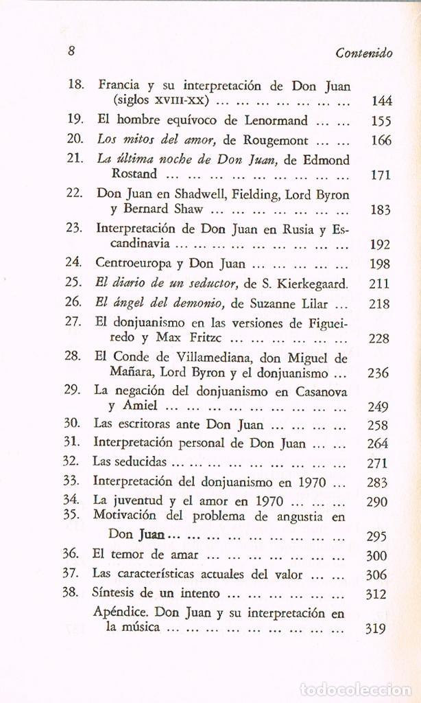 Libros de segunda mano: MERCEDES SAENZ-ALONSO - DON JUAN Y EL DON JUANISMOCON DEDICATORIA DE LA AUTORA , VER INDICE - Foto 4 - 201838738