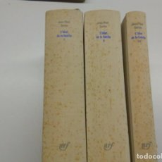 Libros de segunda mano: L'IDIOT DE LA FAMILLE, GUSTAVE FLAUBERT DE 1821 À1857.- JEAN PAUL SARTRE - PRIMERA EDICIÓN. Lote 203611695