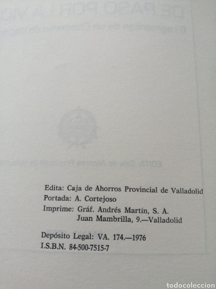Libros de segunda mano: DE PASO POR LA VIDA. LEOPOLDO CORTEJOSO. VALLADOLID, 1976. - Foto 4 - 203778621