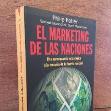 Libros de segunda mano: - LIQUIDACION !!! - EL MARKETING DE LAS NACIONES - KOTLER / JATUSRIPITAK / MAESINCEE. Lote 203969197