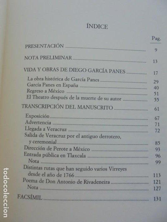 Libros de segunda mano: DIARIO PARTICULAR DEL CAMINO QUE SIGUE UN VIRREY DE MEXICO. DIEGO GARCIA PANES. CEHOPU. 1994 - Foto 9 - 205047815