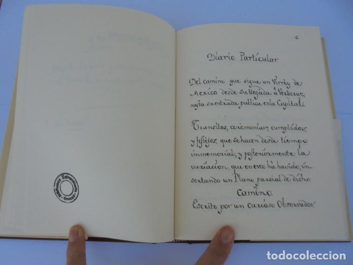 Libros de segunda mano: DIARIO PARTICULAR DEL CAMINO QUE SIGUE UN VIRREY DE MEXICO. DIEGO GARCIA PANES. CEHOPU. 1994 - Foto 13 - 205047815