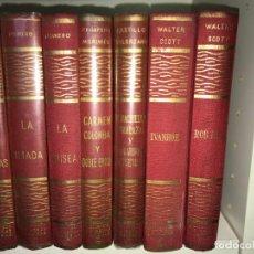 Libros de segunda mano: BIBLIOTECA OBRAS FAMOSAS - 14 X 19,5 CMS. EDICIONES ALVAREZ 1966. TAPA ENTELADA.. Lote 205118476