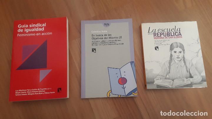 3 LIBROS FEMINISMO: GUIA IGUALDAD, MAESTRAS REPUBLICA Y JUEGOS FEMINISMO, ED CATARATA (Libros de Segunda Mano (posteriores a 1936) - Literatura - Ensayo)