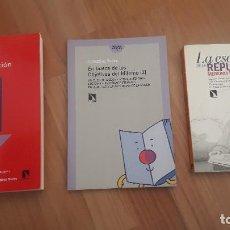 Libros de segunda mano: 3 LIBROS FEMINISMO: GUIA IGUALDAD, MAESTRAS REPUBLICA Y JUEGOS FEMINISMO, ED CATARATA. Lote 205587957