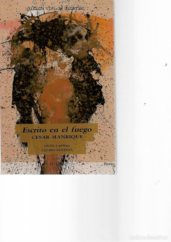 LIBRO DE CESAR MANRIQUE ESCRITO EN EL FUEGO (Libros de Segunda Mano (posteriores a 1936) - Literatura - Ensayo)