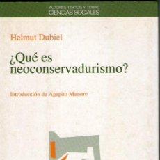 Libros de segunda mano: ¿QUE ES NEOCONSERVADURISMO? MATE, REYES. NIEWÖHNER, FRIEDRICH. (COORDS.).. BARCELONA. ANTHROPOS, ED.. Lote 206221656
