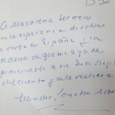 Livres d'occasion: AUTOGRAFO CON DEDICATORIA Y FIRMA DE CLAUDIO SANCHEZ ALBORNOZ: ESTUDIOS POLEMICOS AUSTRAL 1979. Lote 206319576