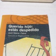 Libros de segunda mano: QUERIDO HIJOESTAS DESPEDIDO. Lote 206840931