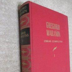 Libros de segunda mano: GREGORIO MARAÑÓN. OBRAS COMPLETAS. TOMO I PRÓLOGOS. Lote 207099413