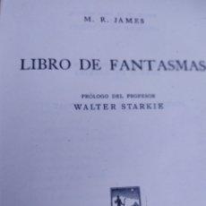 Libros de segunda mano: LIBRO DE FANTASMAS MR JAMES EDITORIAL HESPEROS. Lote 207222282