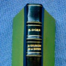 Libros de segunda mano: LA CIVILIZACIÓN EN LA HISTORIA.SINOPSIS E IMÁGENES. PRECEDIDAS DE HISTORIA DEL MUNDO EN 500 PALABRAS. Lote 207233832