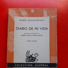 Livres d'occasion: DIARIO DE MI VIDA. MARÍA BASHKIRTSEFF. COLECCIÓN AUSTRAL Nº165 5ªED.1962 ESPASA CALPE. Lote 210034038