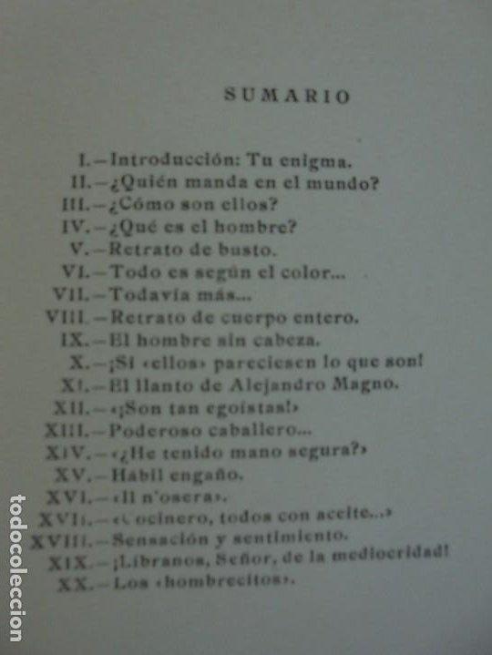 Libros de segunda mano: ELLOS... O ¿COMO CONOCER A LOS HOMBRES?. MARIA ROSA VILAHUR. DEDICADO POR LA AUTORA. 1953 - Foto 11 - 210394010