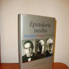 Libros de segunda mano: EPISTOLARIO INÉDITO. MARAÑÓN, ORTEGA, UNAMUNO - ANTONIO LÓPEZ VEGA (ED.) - ESPASA, MUY BUEN ESTADO. Lote 210464616