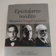 Libros de segunda mano: EPISTOLARIO INÉDITO. MARAÑÓN ORTEGA UNAMUNO. Lote 210761531