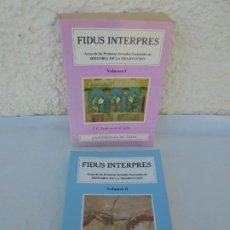 Libros de segunda mano: FIDUS INTERPRES. HISTORIA DE LA TRADUCCION. VOLUMEN I Y II. J.C. SANTOYO. UNIVERSIDAD DE LEON.. Lote 210843729