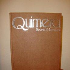 Libros de segunda mano: QUIMERA. REVISTA DE LITERATURA. NÚMEROS 1 AL 6 ENCUADERNADOS. Lote 210934515