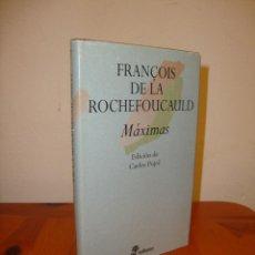 Libros de segunda mano: MÁXIMAS - FRANÇOIS DE LA ROCHEFOUCAULD - EDHASA, MUY BUEN ESTADO. Lote 211437121