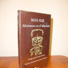 Libros de segunda mano: AFORISMOS EN EL LABERINTO - MAX AUB - EDHASA, NUEVO, PRECINTADO. Lote 211437206