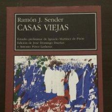 Libros de segunda mano: CASAS VIEJAS, RAMON J, SENDER. Lote 211528831