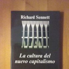 Libros de segunda mano: LA CULTURA DEL NUEVO CAPITALISMO, RICHARD SENNETT, ANAGRAMA, 2006. Lote 211730555