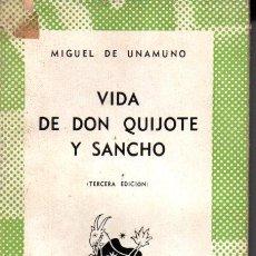 Libros de segunda mano: AUSTRAL 33 : MIGUEL DE UNAMUNO - VIDA DE DON QUIJOTE Y SANCHO (1941). Lote 212589996