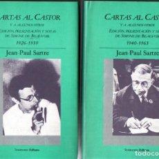 Libros de segunda mano: JEAN PAUL SARTRE : CARTAS AL CASTOR Y A ALGUNOS OTROS - DOS TOMOS CON ESTUCHE (EDHASA, 1986). Lote 214532792