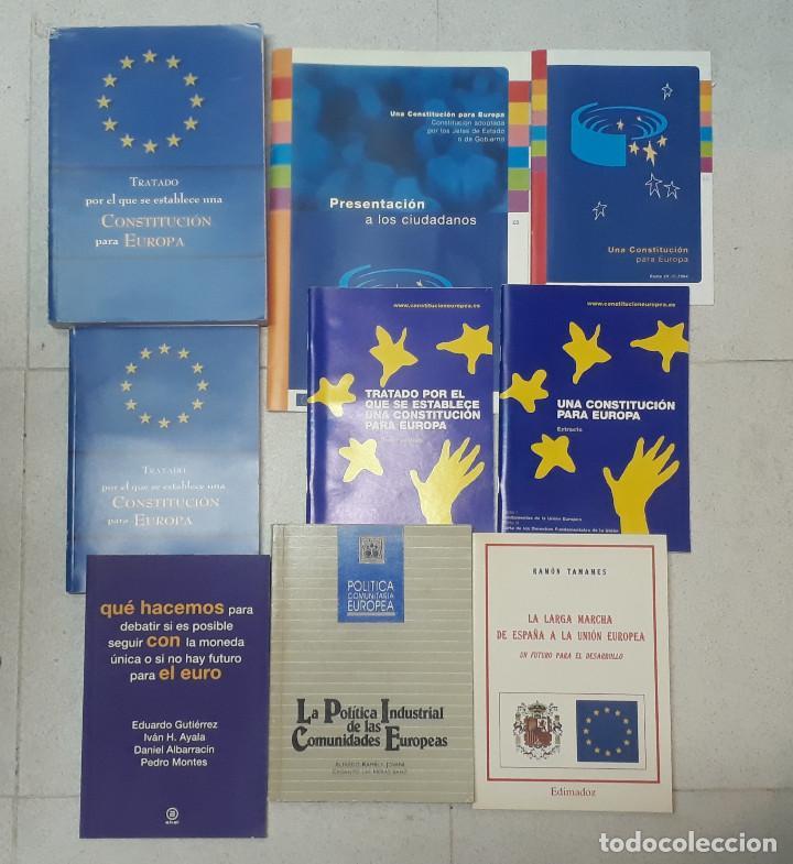 LOTE 9 LIBROS UNIÓN EUROPEA (Libros de Segunda Mano (posteriores a 1936) - Literatura - Ensayo)