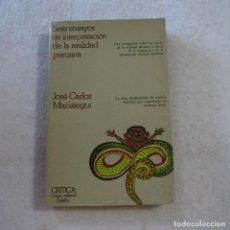Libros de segunda mano: SIETE ENSAYOS DE LA REALIDAD PERUANA - JOSÉ CARLOS MARIÁTEGUI - EDITORIAL CRÍTICA - 1976 - 1.ª ED. Lote 216993157