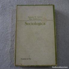 Libros de segunda mano: SOCIOLÓGICA - THEODOR W. ADORNO Y MAX HORKHEIMER - TAURUS - 1966. Lote 217704661